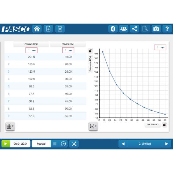 Беспроводной цифровой датчик давления PASCO